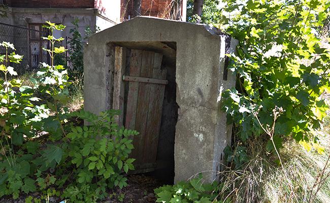 basement of abandoned railway hospital