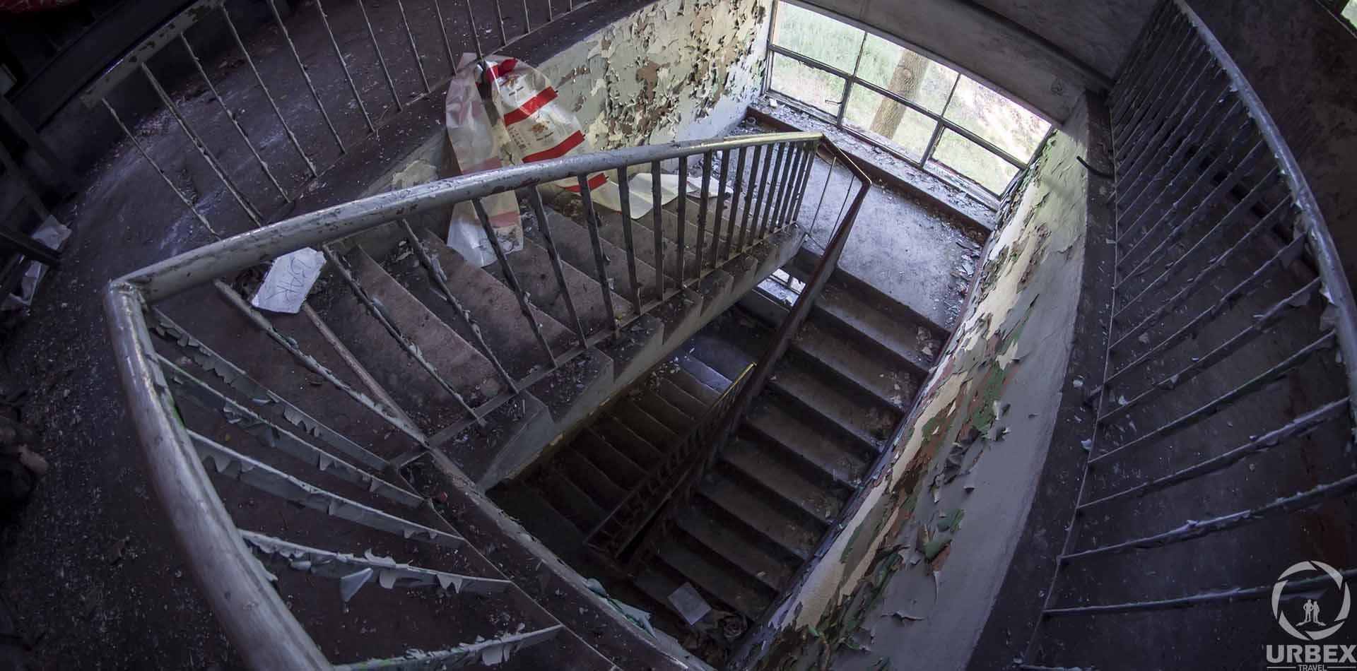 Stairs in Abandoned Boiler Room in Zielonka
