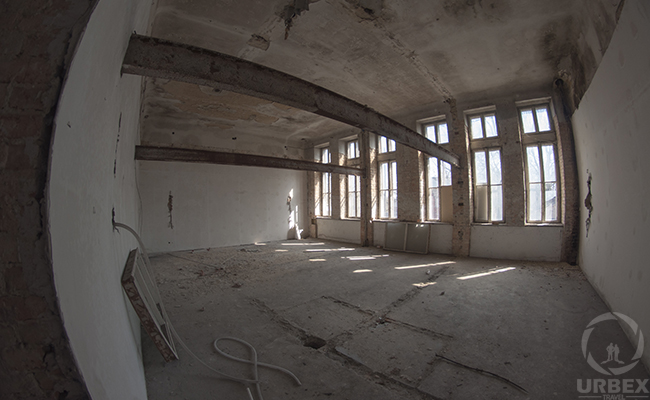 inside an abandoned hospital