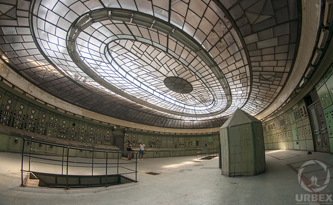 Art Deco Roof in Abandoned Power Plant Kelenfold Budapest