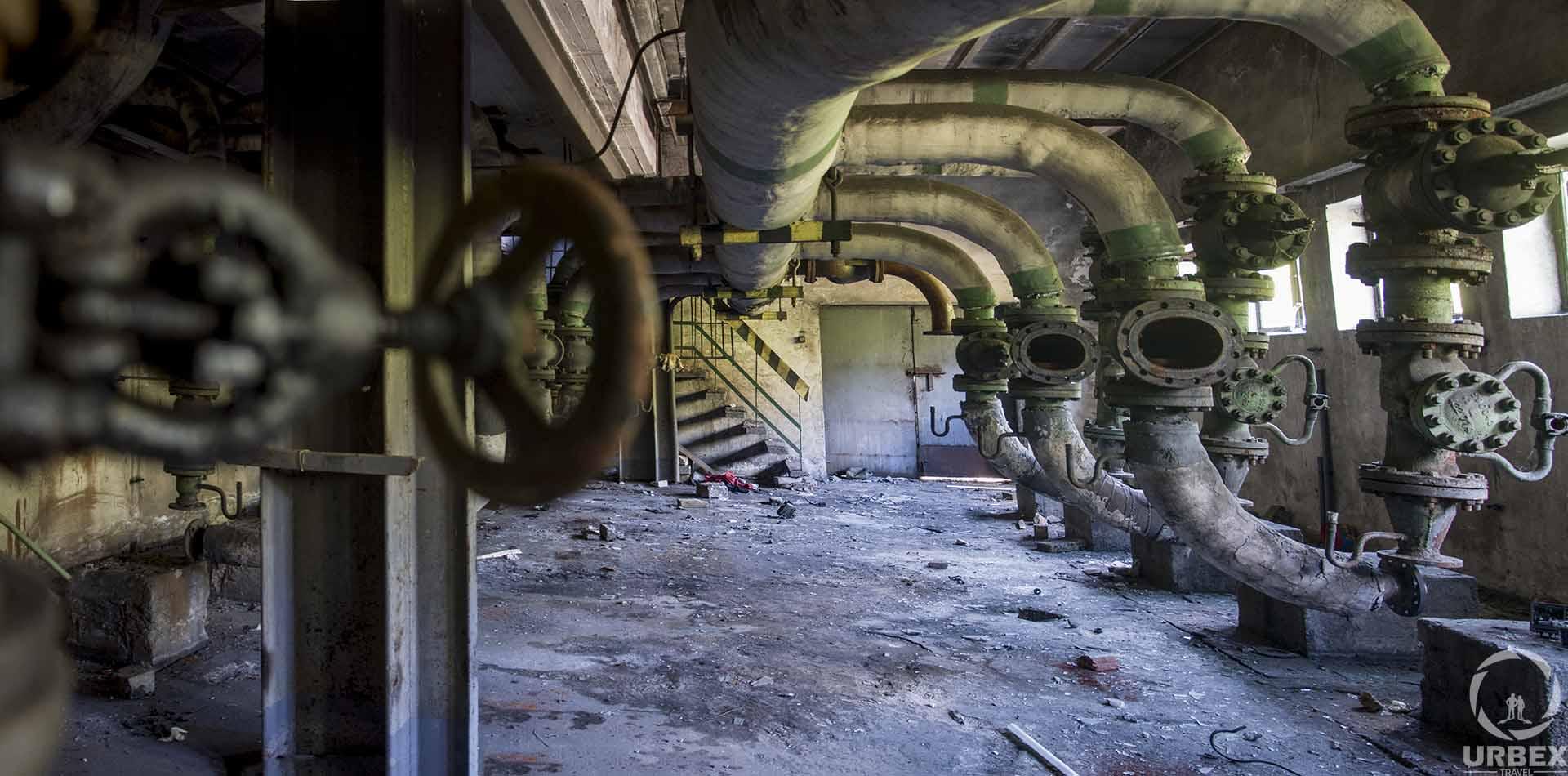 Pipes in Abandoned Boiler Room in Zielonka