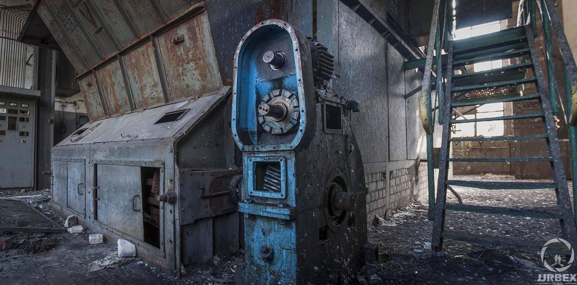 Furnace in Abandoned Boiler Room in Zielonka