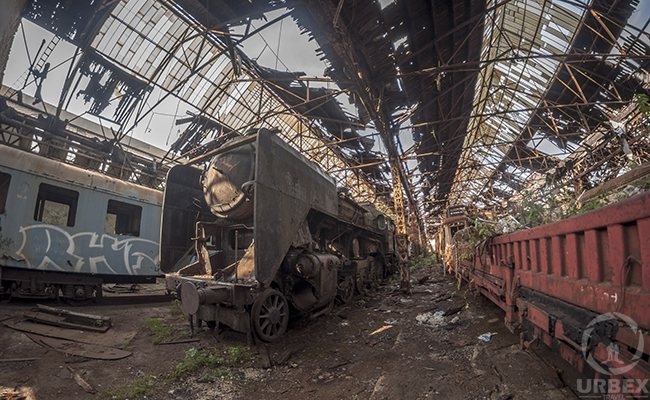 abandoned train in Budapest