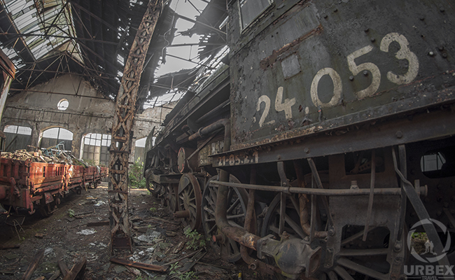 Abandoned Train Graveyard in Budapest