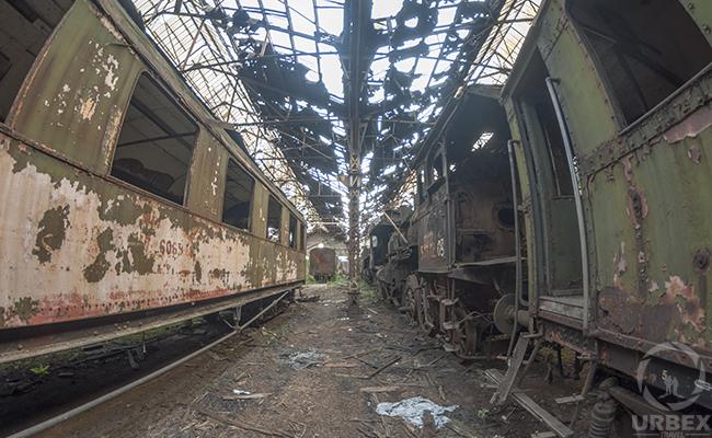 Abondoned Train Graveyard in Budapest