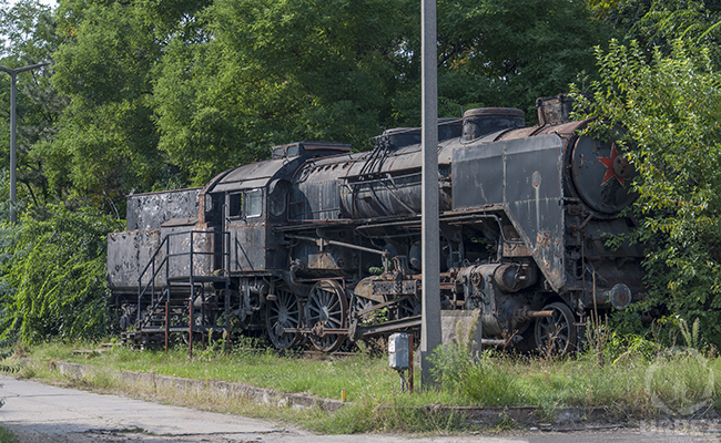 Abandoned train which transported Jews to Auschwitz