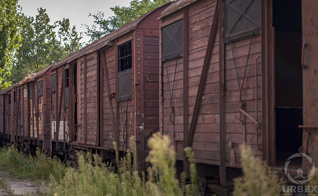 Abandoned Auschwitz Train in Budapest
