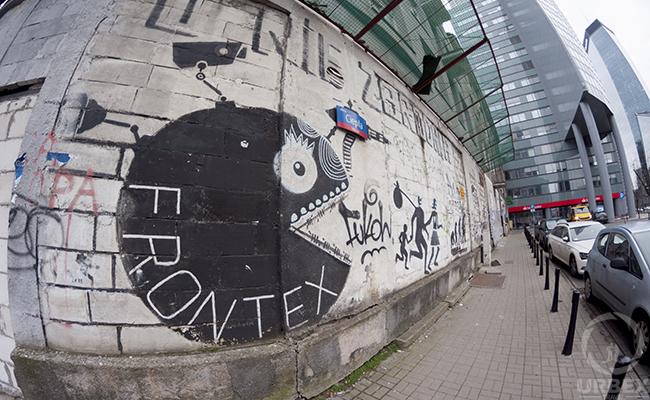 graffiti on abandoned tenement house