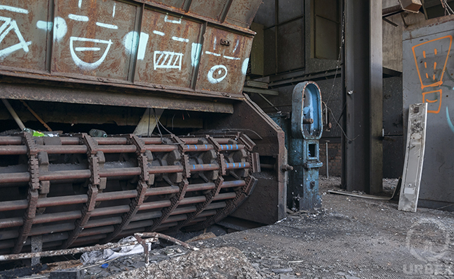 rusty device in an abandoned place