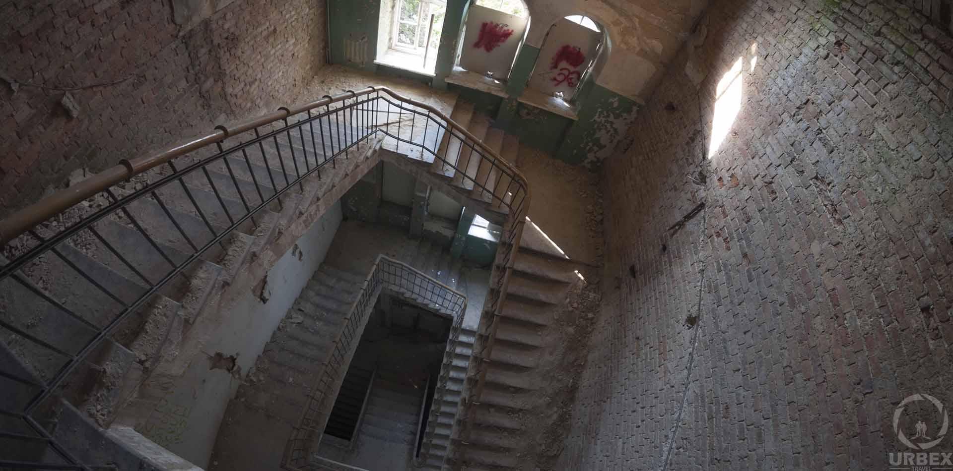 abandoned railway hospital