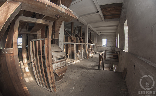 Wooden Device In An Abandoned Building