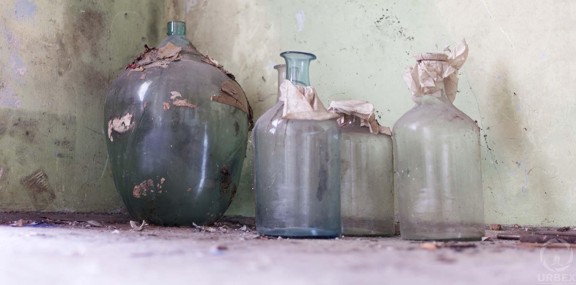 Bottle in Abandoned House