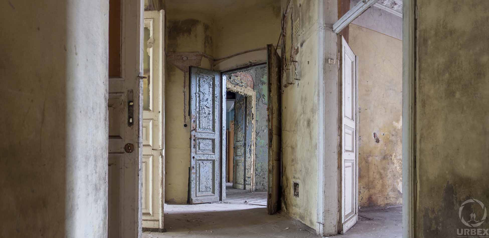 A Lot Of Doors in Abandoned Tenement House