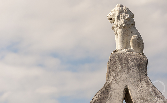 abandoned Lion monument