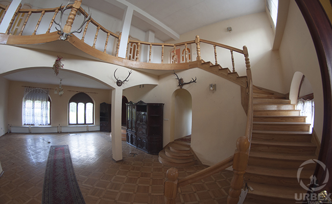 fish eye photo of abandoned living room in china house