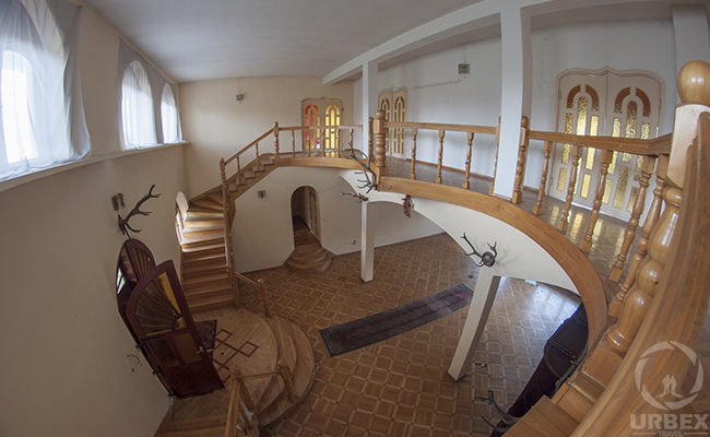 fish eye photo of living room in abandoned china house