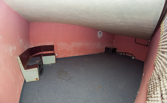 basement in abandoned house