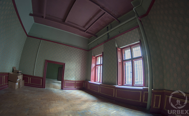alarm in abandoned palace