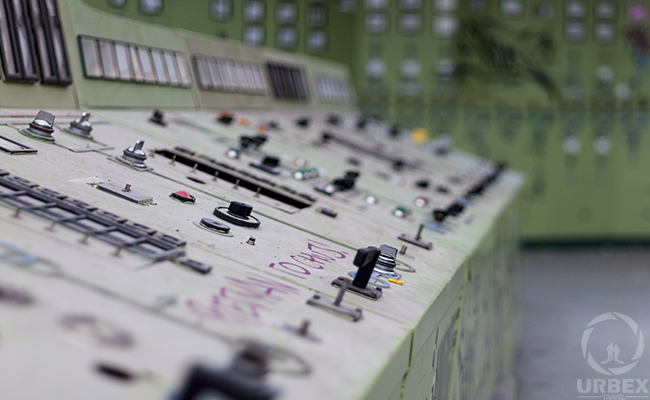 Old Anabdoned Control room of power plant in poland