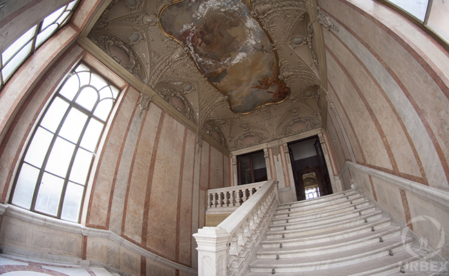 frescoes in an abandoned palace