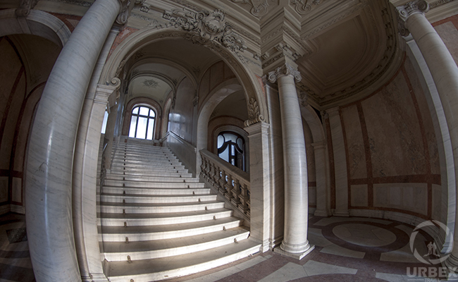 staircase in an abandoned palace