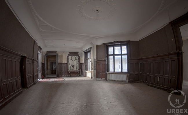 an abandoned chateau Adria in Budapest