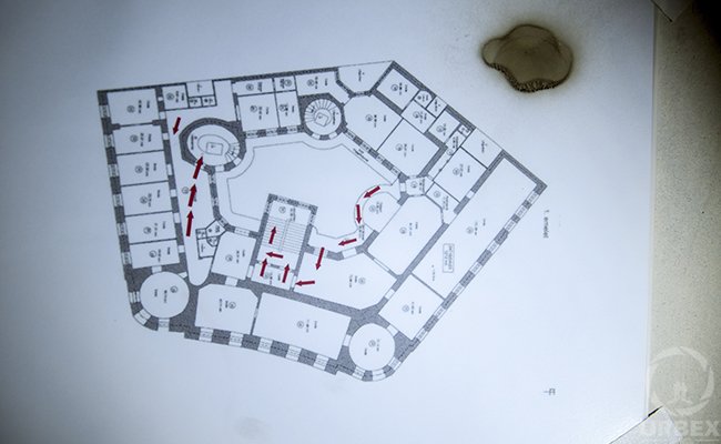 map of abandoned palace in budapest