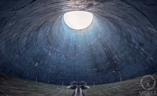 Inside a Cooling Tower in The City Center – An Abandoned Power Plant in The City of Łódź