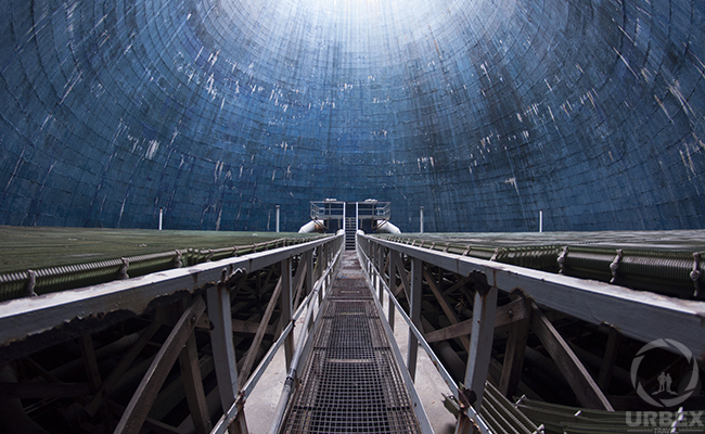 The Abandoned cooling tower in Poland
