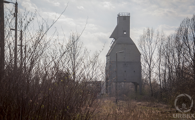 abandoned coal tower Odolany in warsaw
