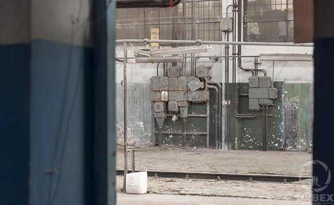Old Abandoned locomotives workshop