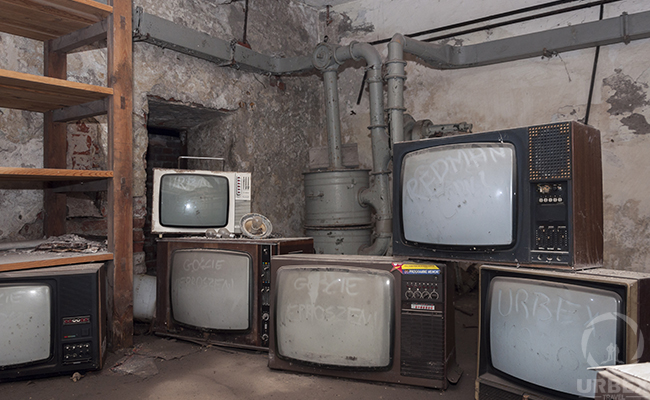 TV in abandoned fallout shelter