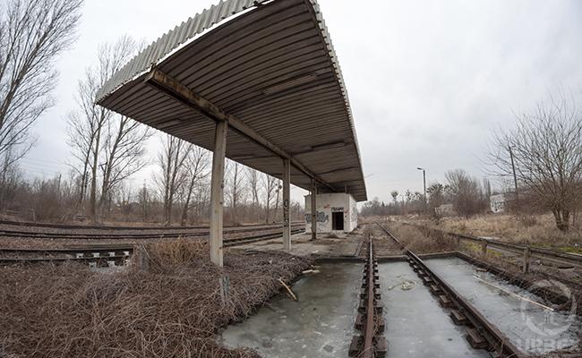 abandoned train station
