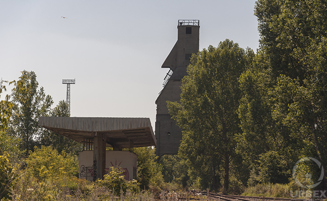 abandoned fuel silos