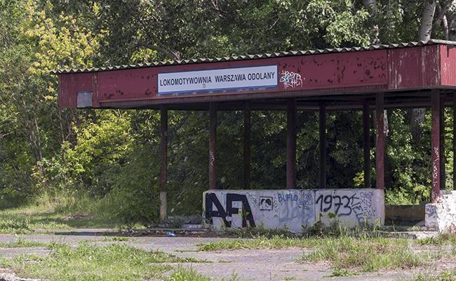 A locomotive depot Odolany