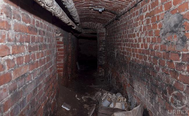 underground coridor in abandoned palace