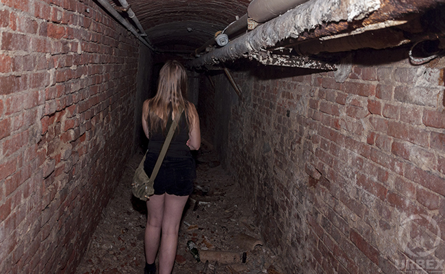 young lady hidden in the basement
