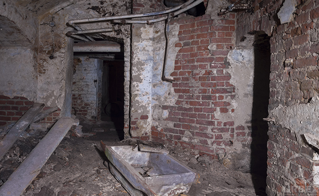 haunted basement in abandoned palace