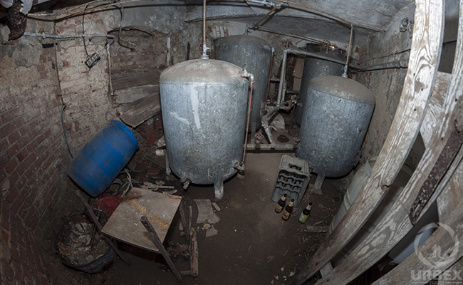 boiler room in abandoned palace
