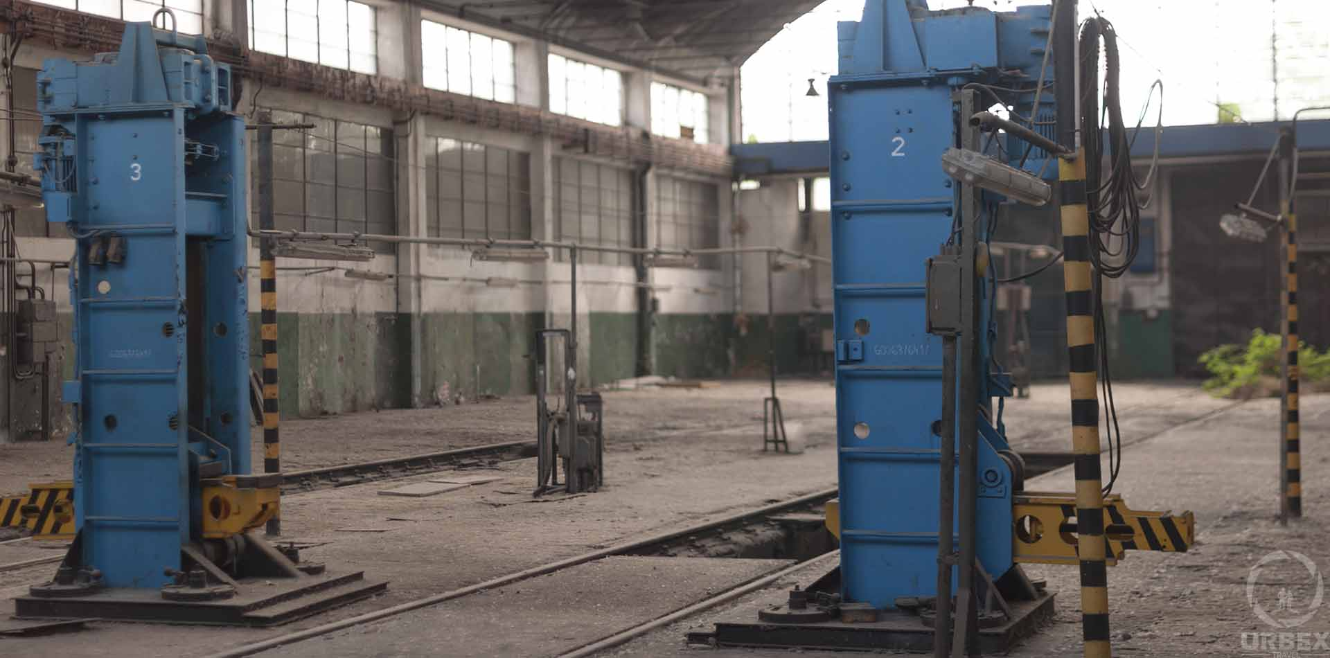 abandoned train workshop in poland