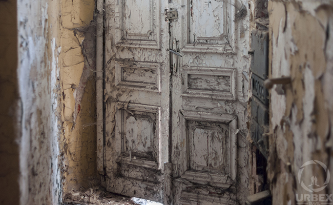 door in abandoned palace