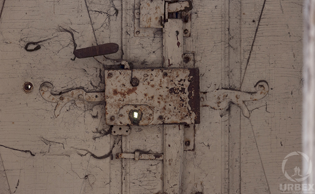 old lock in abandoned palace