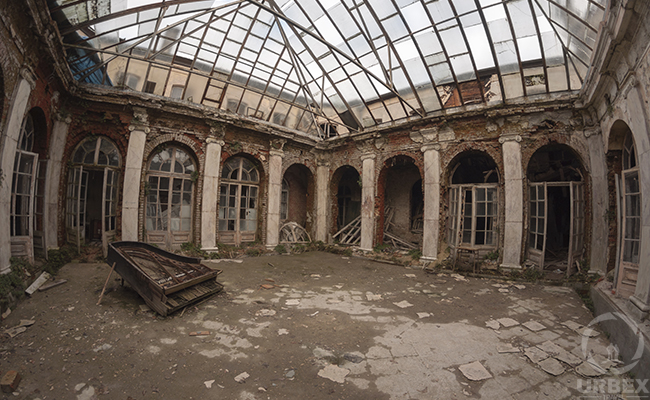 the art of decay in an abandoned piano palace