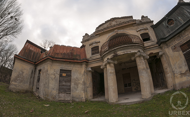 an abandoned palace in poland