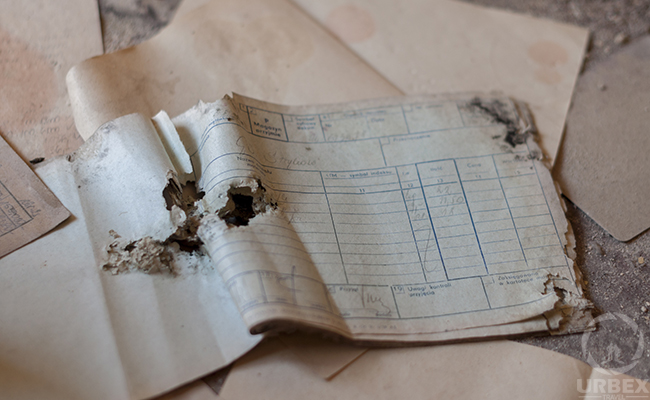 notes found on urbex