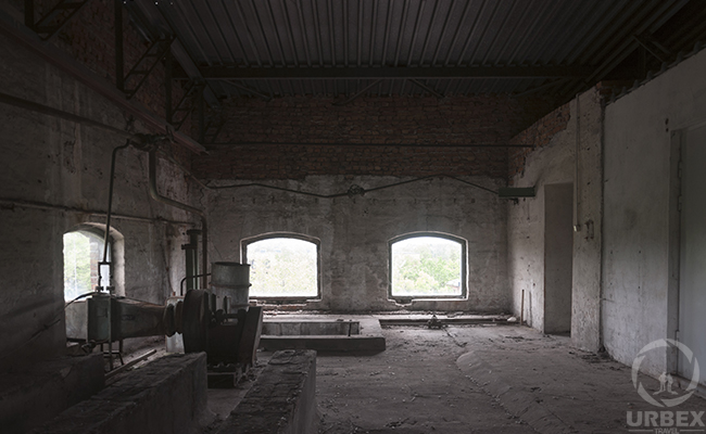 an attic in an abandoned building