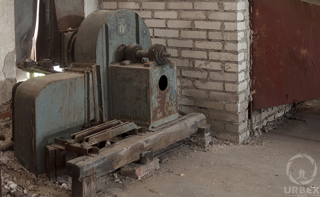 ventilation devices in old factory