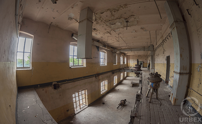industrial space in an abandoned building