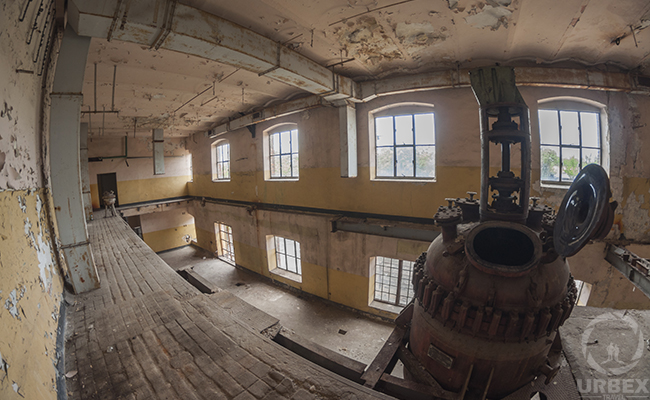 abandoned industrial building with a device inside