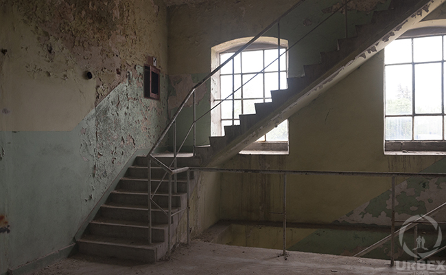 old stairs in soap factory in warsaw